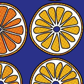 Halftone Orange Slices