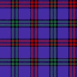 """Montgomerie tartan, 4"""" red/green/blue-violet"""