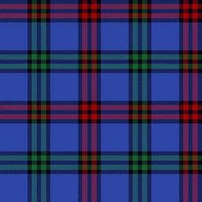 """Montgomerie tartan -  4"""" red / green / true blue"""
