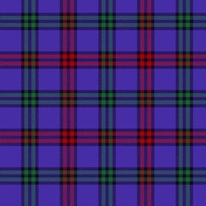 """Montgomerie tartan, 3"""" red/green/blue-violet"""