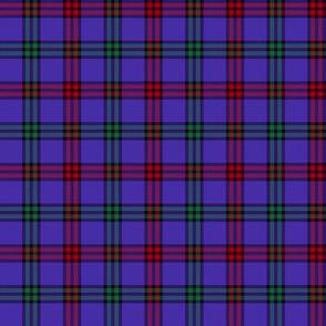 """Montgomerie tartan, 2"""" red/green/blue-violet"""