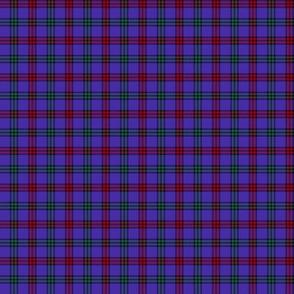 """Montgomerie tartan, 1"""" red/green/blue-violet"""