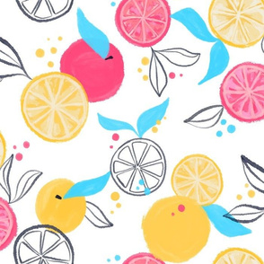 Citrus Pop - Bright, fun citrus fruits