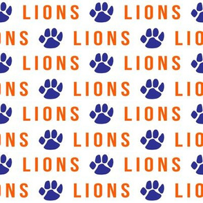 lions - orange and blue