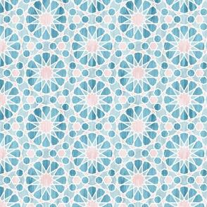 Farah tile Aqua Pink