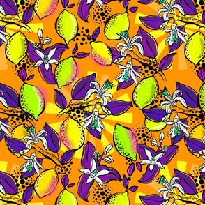 Popart lemon squeeze orange