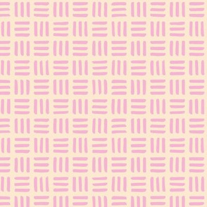Little abstract mudcloth minimal checkered plaid design Scandinavian style pastel pink yellow