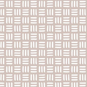 Little abstract mudcloth minimal checkered plaid design Scandinavian style beige sand