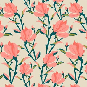 magnolia- dusty pink- small scale