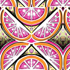 sketchy pop art citrus grapefruit