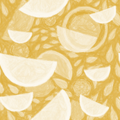 Abstracted Yellow Lemon
