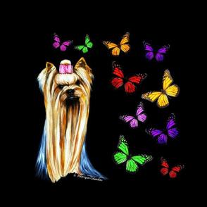 Yorkie & Butterflies Big