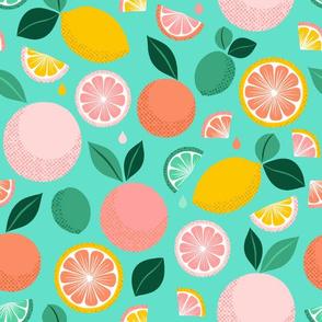 Pop Citrus Party - Aqua