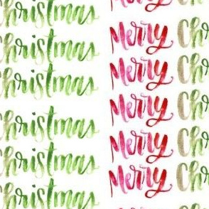 warm wishes lettered merry christmas