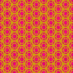 Golden honeycomb pink