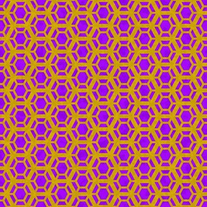 Golden Honeycomb on purple