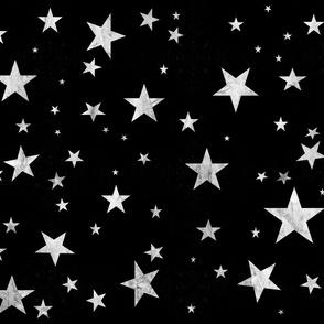 starry sky - grayscale