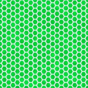 honeycomb white on green