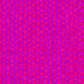 honeycomb purple on pink