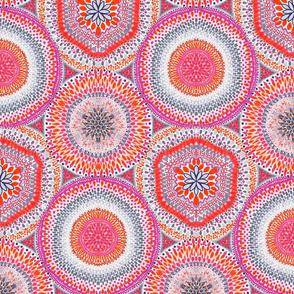 Kaleidoscope Medallions Vermilion