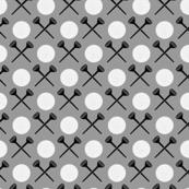golf tee x gray 40 and black
