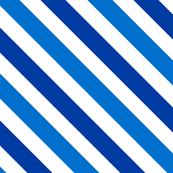 Bias Stripe in Brilliant Cobalt