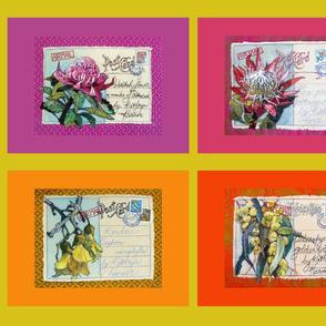 KHF postcards fat qtr flora