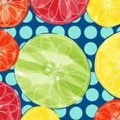 Pop citrus polka dot