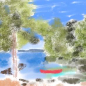 Canoe in the Blue