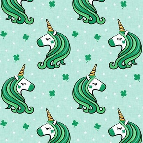 St Patricks Unicorn - st patty's day unicorns - mint - LAD19