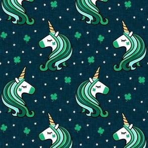 St Patricks Unicorn - st patty's day unicorns - teal - LAD19