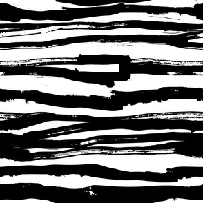 Black Horizontal Inky Lines