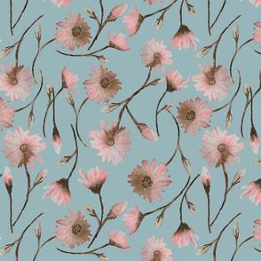 Pink spring blue