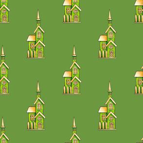 Green Cute Houses