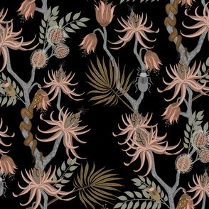 vintage chinoiserie black
