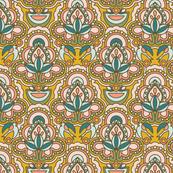 Folk flower pattern
