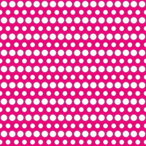 Hot Pink and White Dots
