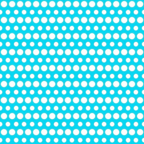 Light Blue and White Dots