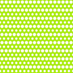 Light Green and White Dots