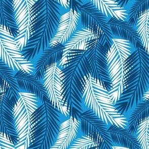 Palm Fronds-Blue