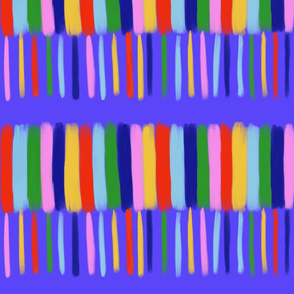 rainbow stripe with blue background