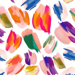 paint splashes pattern white