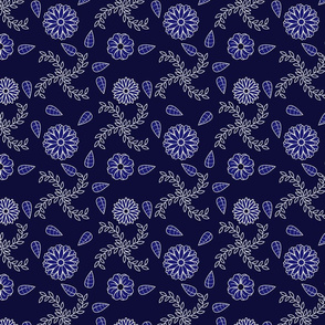 Blue and White flower-pattern