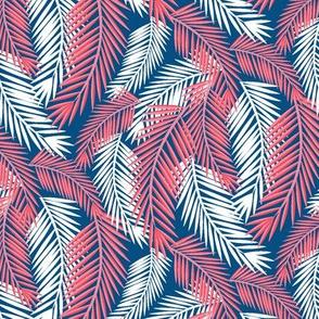 Palm Fronds-Deep Blue Sea