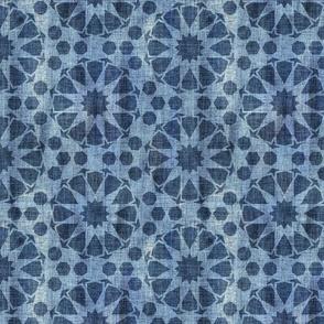 Farah tile 3 light denim