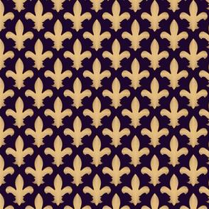 fleur de lis on purple
