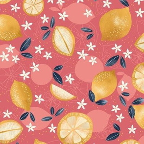 Lemon Slices Yellow and Pink