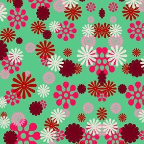 Green Pink Retro