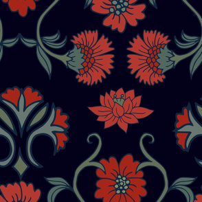 Art nouveau wallpaper large scale floral
