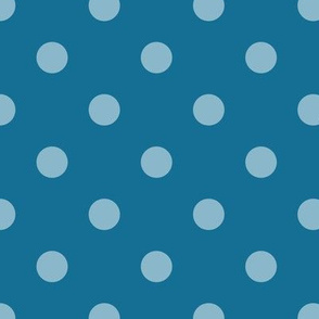 Normal scale // Pop art dots // blue complementary pattern